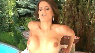 Big tits, Outdoor, Busty blowjob