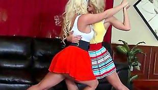 Dance, Busty lesbians, Busty lesbian, Rip, Cherie deville