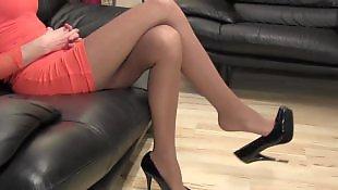 Milf stockings, High heels, Mature, Foot fetish, Milf, Stocking