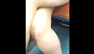 Upskirt, Legs, Voyeur, Leggings, Train, Leg