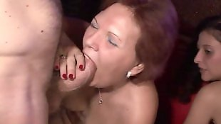 Granny, Old granny, Swingers, Old and young, Group, Gangbang