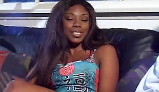Ebony blowjob, Ebony facial