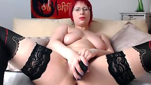 Stocking dildo, Stockings dildo, Stockings masturbation, Rubbing, Dildo stockings, Redhead stockings