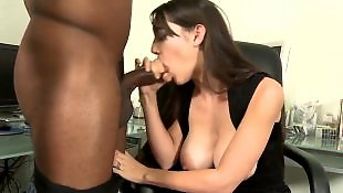 Huge cock, Office, Pale, Huge dick, Big black cock, Throat fuck
