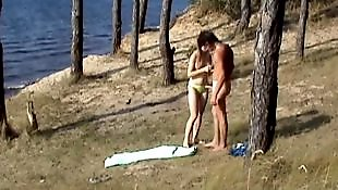 Beach, Spy, Caught, Doggystyle, Beach voyeur, Voyeur beach