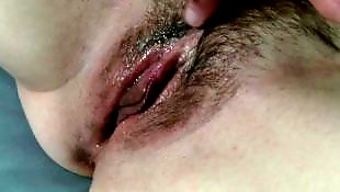 Self, Orgasms, Hairy orgasm, Hairy close up, Wet orgasm, Hairy masturbation
