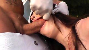 Doggy, Jennifer white, White stockings, Rough, Doggy style