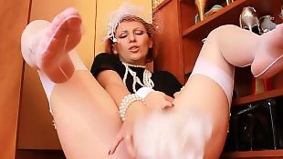 Stocking dildo, Stockings, Stockings dildo, Foot fetish, Pussy cream, Toying