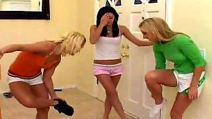 Teens masturbation, Teen threesome, Teen lesbian threesome, Sporty, Lesbian teen threesome