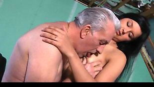 Old man, Old, Teens, Young, Teen, Teen blowjob