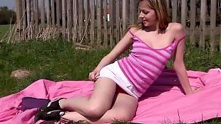 Outdoor, Teen sex, Outdoor masturbation