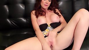 Masturbation, Big boobs, Redhead, Toy, Big, Toying