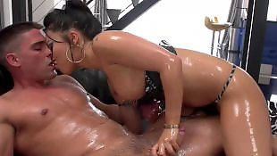 Oil, Anal, Oiled, Gaping, Big boobs, Asian anal