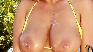 Big tits solo, Bikini, Solo babe, Pussy close up, Car, Hungarian