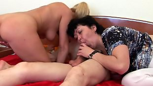 Mature threesome, Old granny, Granny threesome, Granny, Threesome, Mature and young