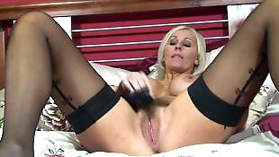 Milf stockings, Mature, Jan burton, Dress, Busty mature, Sexy dress