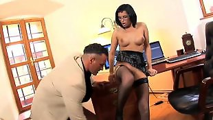 Stockings fuck, Secretary, Secretary anal, High heels anal