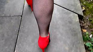 Heels, Flashing, Stockings heels