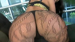 Ass worship, Bigass, Ass lick, White lingerie, Ass masturbation, Stocking handjob