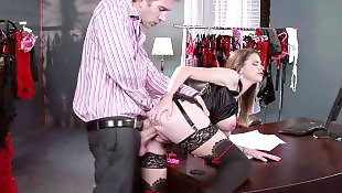 Danny d, Secretary, Brazzers, Bouncing, Brooklyn chase, Bouncing tits