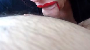 Pov blowjob, Pov milf, Close up blowjob, Lipstick, New, Close up