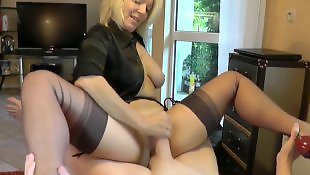 Big cock, Riding, Mature, Milf, Blonde milf, Big cocks