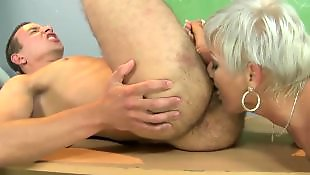 Mature blowjob, Mature, Seducing, Granny, Granny blowjob, Granny ass