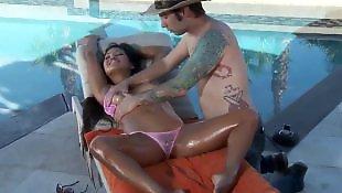 Bikini, Asian massage, Oil, Pussy massage, Massage