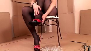 Pantyhose solo, Pantyhose, Legs, Legs solo, Feet solo, Fisting