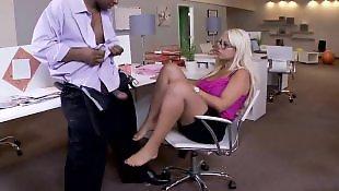 Toes, Office, Toe sucking, Bridgette b
