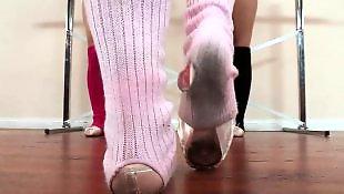 Dance, Lesbian kissing, Lesbian kiss, White stockings, Ballet, Dancing