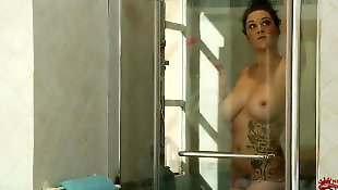 Solo shower, Shower, Big tits solo, Solo girls, Pussy close up, Milky