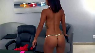 Reality king, Teen strip, Perky tits, White panties, Strip