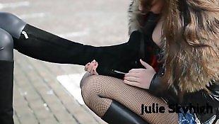 Boots, Teen lesbian, Outdoor, Tease, Lesbian boots, Lesbian teens