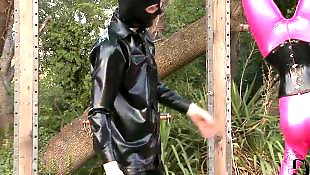 Bondage, Milky, Latex bondage, Latex, Toes, Domination