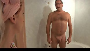 Old man, Maid, Blonde, Teen, Old young, Blonde blowjob
