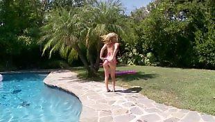 Bikini, Fist, Fisting, Tit fuck, Pool, Big tits