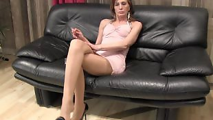 Mistress, Mature, Foot, Foot fetish, Smoking, Redhead