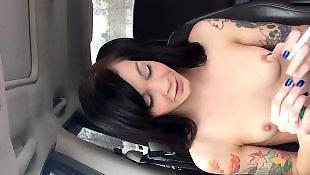 Smoking, Nipples, Flash, Public, Gothic, Tits