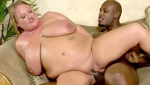 Milf interracial, Chubby blonde, Interracial, Bbw interracial, First