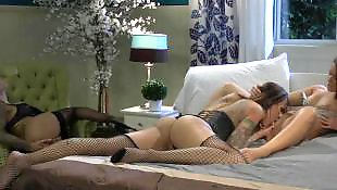 Lesbians stockings, Lesbian, Lesbians, Lesbian threesome, Stocking, Threesomes