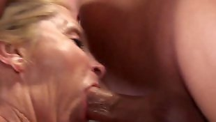 Gilf, Cream, Swallow, Granny cum, Granny blowjob, Cum swallow