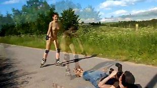 Nude, Girls, Russian, Public, Public nude, Russian teen