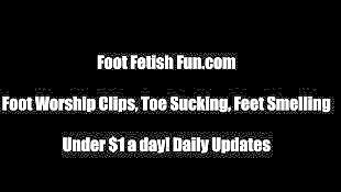 Foot, Foot fetish, Stocking, Pov, Fetish