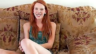 Busty teen, Casting teen, Miniskirt