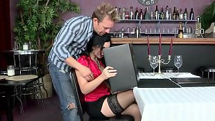 Stockings fuck, Restaurant