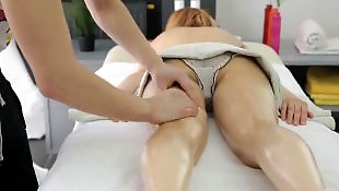 Massage, Missionary, Pussy massage, Condom