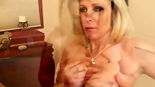 Hand job, Julia ann, Mature cum in mouth, Cum in mouth, Mature, Julia