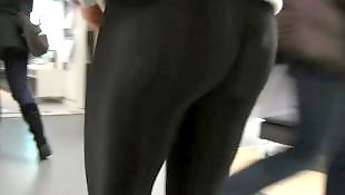 Candid, Leggings, Legs, Shiny