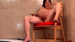 Granny masturbating, Hairy pussy masturbation, Hairy dildo, Granny dildo, Hairy, Hairy granny